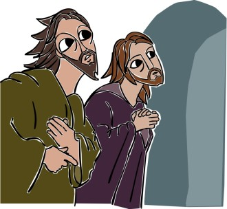 John and Peter Observe the Empty Tomb