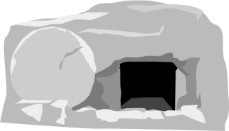 Open Gray Stone Tomb