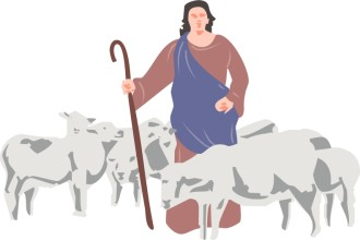 A Shepherd And His Sheep