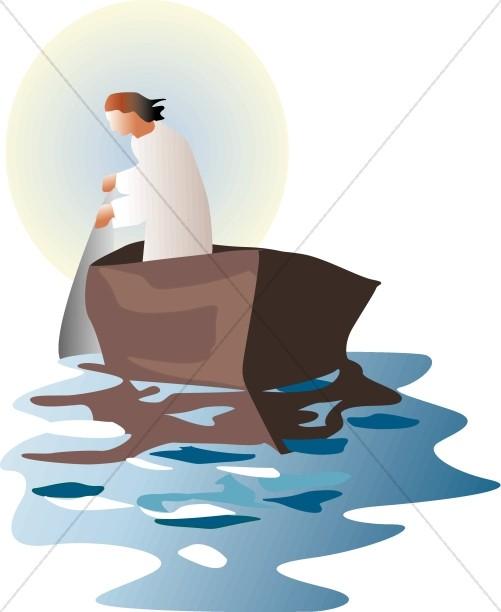 Fisherman in the Sea of Galilee