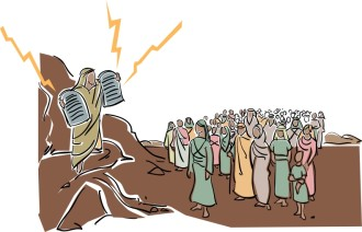 Moses Announces God's Commandments