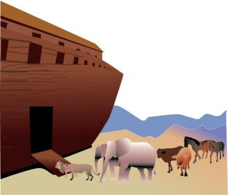 Animals Enter the Ark Two by Two