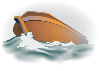 The Ark of Noah as the Storm Breaks