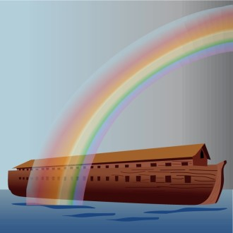 Rainbow over Noahs Ark