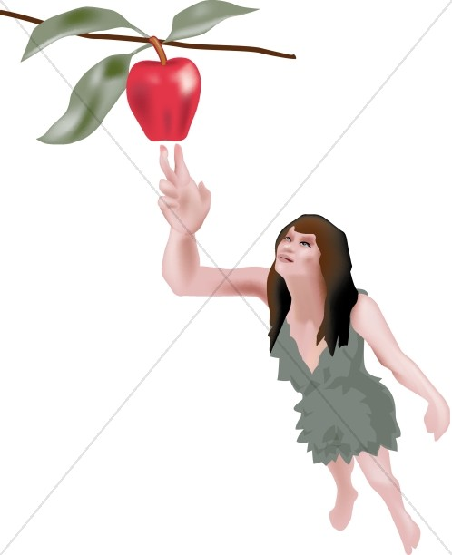 Religious Clipart of Eve in the Garden