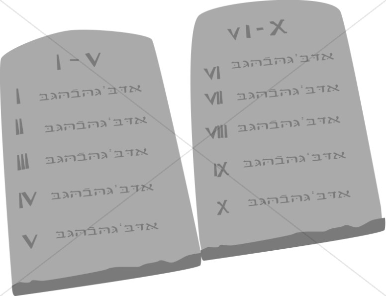 Ten Commandment Tablets