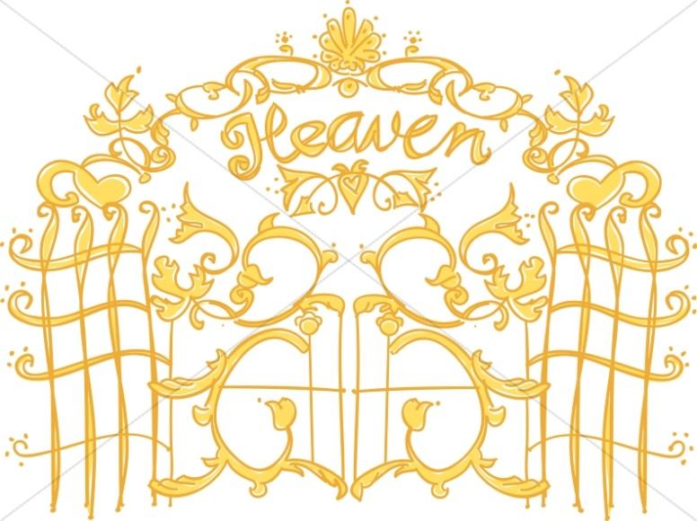 Christian Symbol Clipart, Christian Symbols Images ... Pearly Gates Of Heaven Clipart