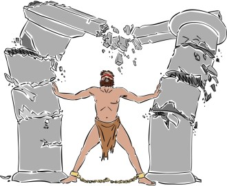 Samson Collapses the Columns