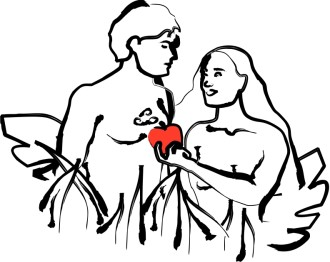 Religious Clipart of Adam and Eve