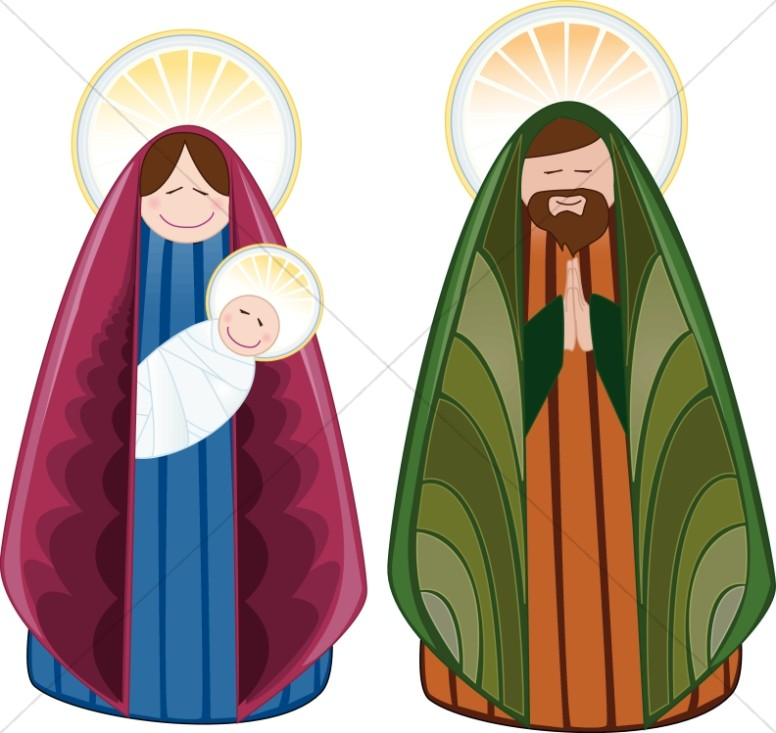 Cheerful Holy Family Characters