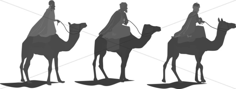 Three Camels Bearing Wisemen