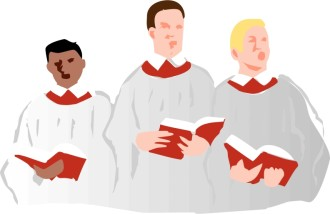 Choir Singers in Robes