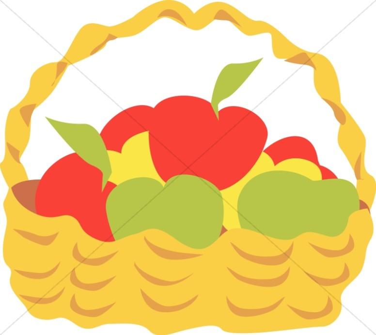 Summertime Basket of Apples