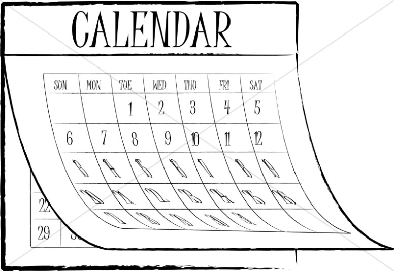 Clipart Calendar Graphic : Christian calendar clipart church graphic