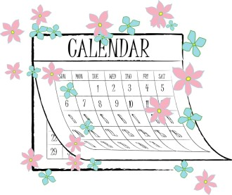 Springtime Flower Calendar