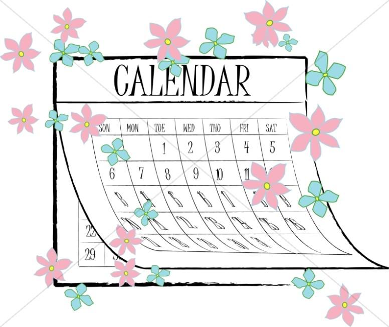 Springtime Flower Calendar