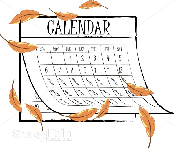 Fall Leaves Calendar