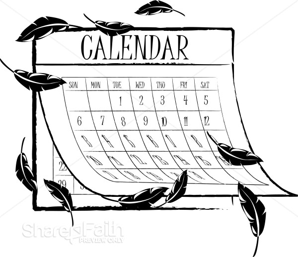 Balck and White Fall Calendar