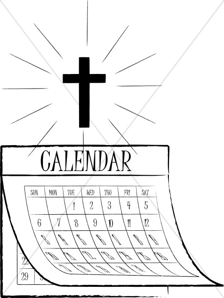 Shinging Cross and Calendar