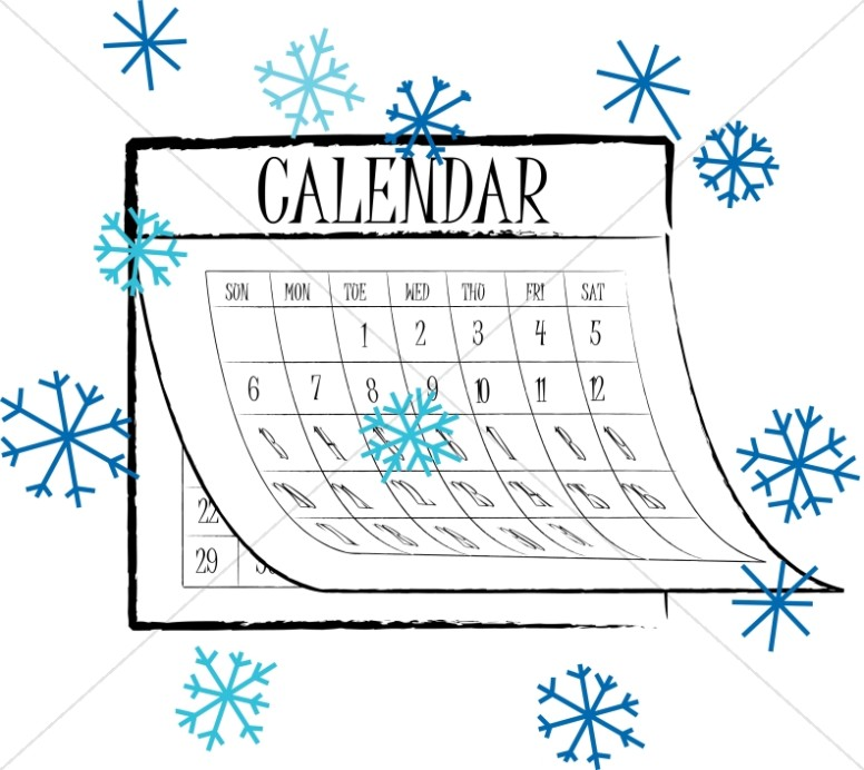 Winter Snowflake calendar