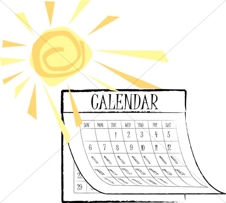 Sunny Summer Calendar