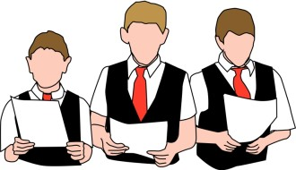 Three Choir Boys with Vests