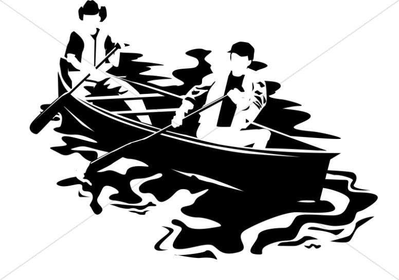 Canoe on a Lake for Church Camp
