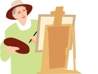 Senior Citizen Painter