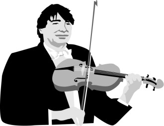 Black and White Classical Violinist
