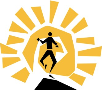 Stylized Man with Sunburst