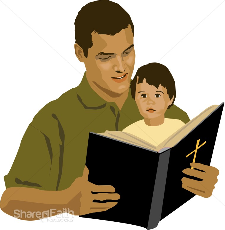 Father and Son with Bible