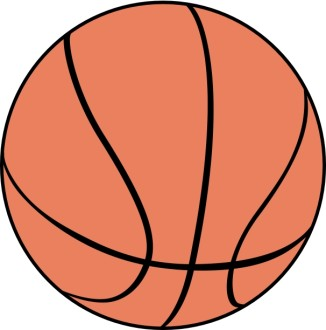Large Orange Basketball