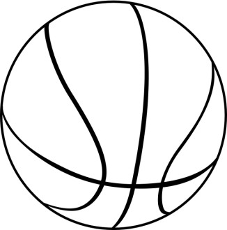 Black and White Basketball