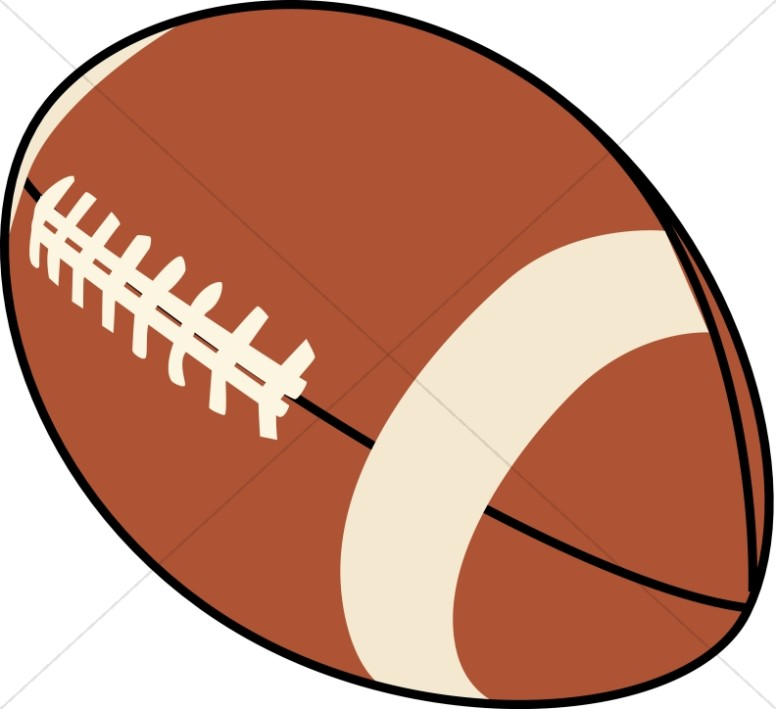 Brown and Beige Football