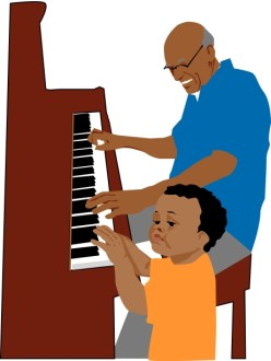 Grandchild Playing Piano