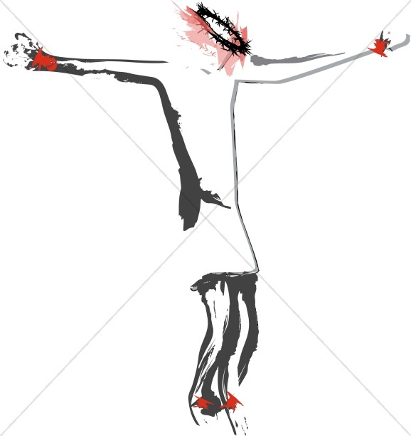 Abstract of Jesus Crucified