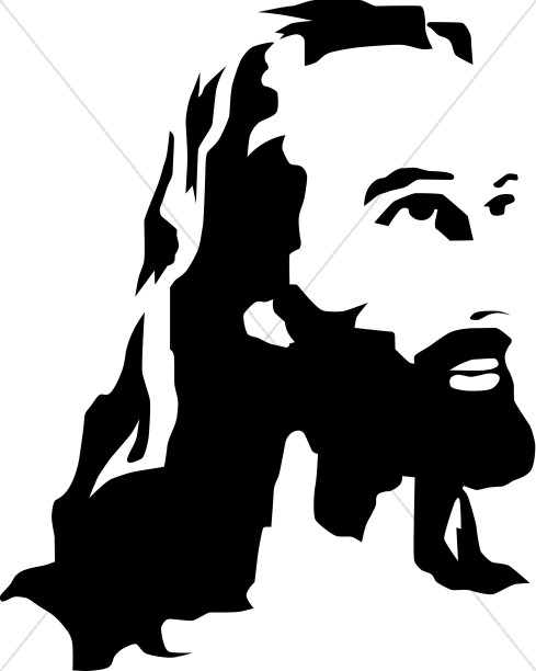 Black and White Christ Portrait