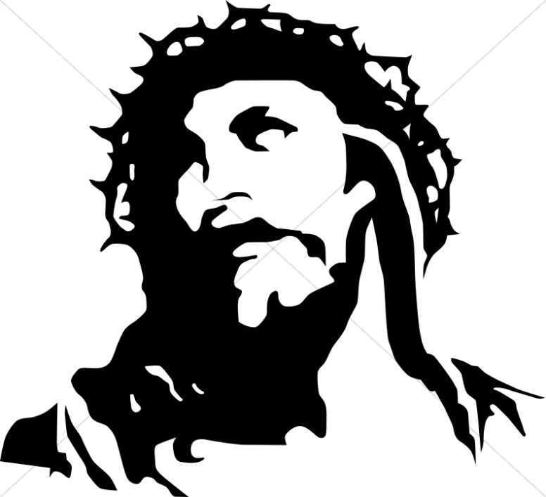 Christ With Crown Of Thorns Good Friday Clipart