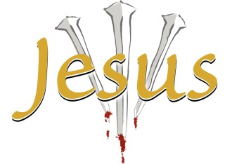 Jesus' name with Three Nails