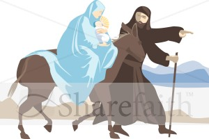 Holy Family Rides to Egypt