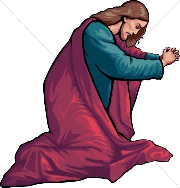Jesus in Prayer Jesus Clipart