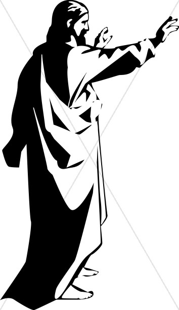 Christ preaching to the Disciples | Jesus Clipart