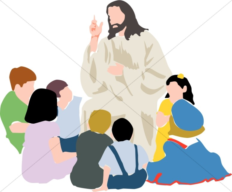 Kids in a Circle with Jesus