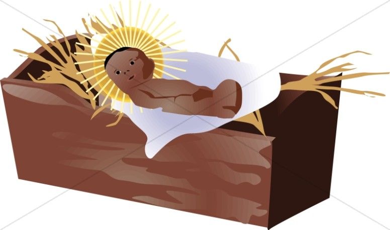 free clipart of baby jesus in a manger - photo #32