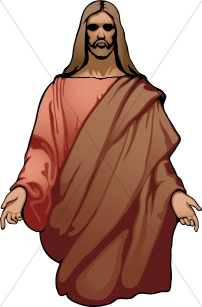 Front Facing Jesus with Arms Open | Jesus Clipart