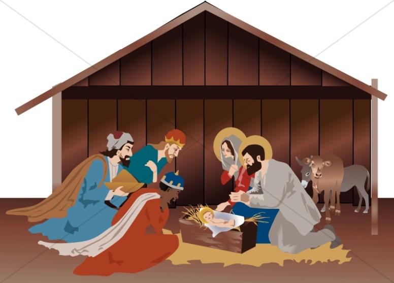 Nativity Scene in the Stable