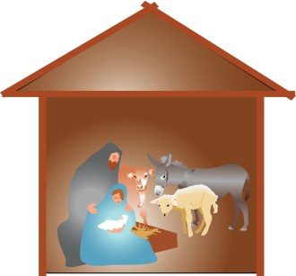 Nativity Scene with Animals