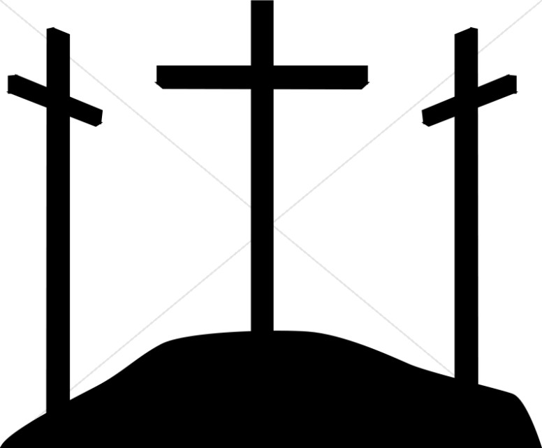 Simple Calvary Silhouette Crosses