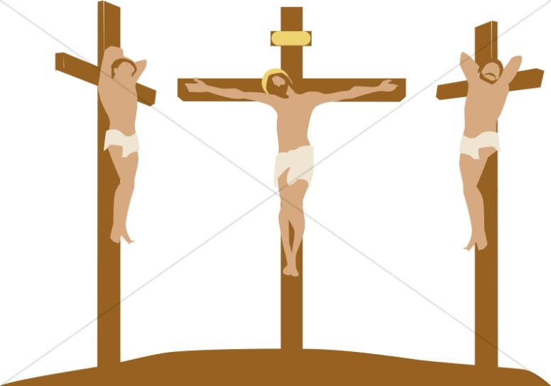 Jesus on the Cross with Criminals
