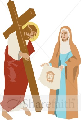 Veronicas Veil Stations Of The Cross Clipart